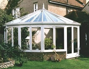 hardwood conservatory with painted finish